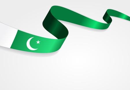 pakistani: Pakistani flag wavy abstract background. Vector illustration. Illustration