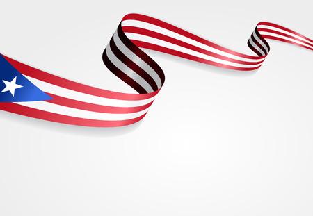 puerto rican flag: Puerto Rican flag wavy abstract background. Vector illustration. Illustration