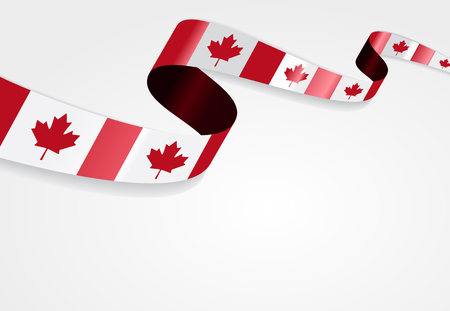 canadian flag: Canadian flag wavy abstract background. Vector illustration. Illustration