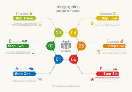 frame  box: Infographic design template with place for your data. Vector illustration.