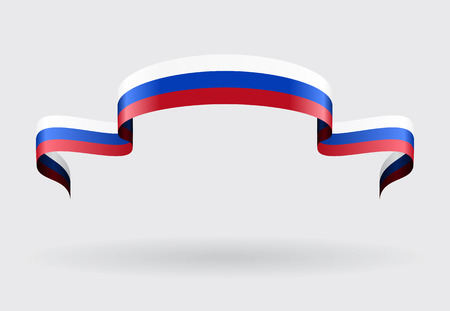 russian flag: Russian flag wavy abstract background. Vector illustration.