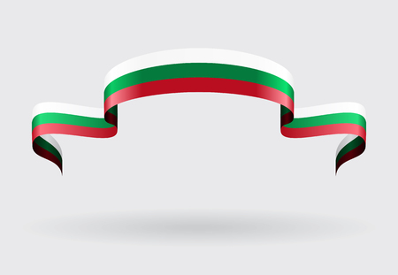 bulgarian: Bulgarian flag wavy abstract background. Vector illustration. Illustration