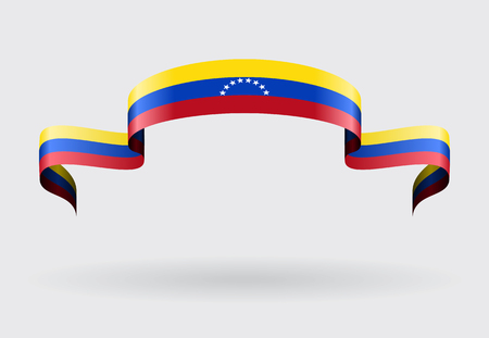 venezuelan: Venezuelan flag wavy abstract background. Vector illustration.