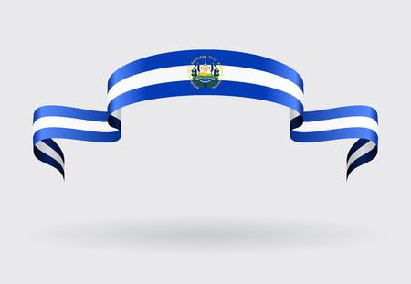 bandera de el salvador: El Salvador Flag Fondo abstracto ondulado. Ilustración del vector.