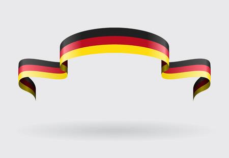 german flag: German flag wavy abstract background. Vector illustration. Illustration