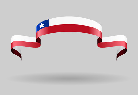 chilean flag: Chilean flag wavy abstract background. Vector illustration.