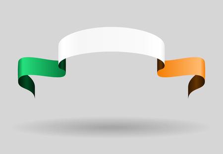 irish flag: Irish flag wavy abstract background. Vector illustration.