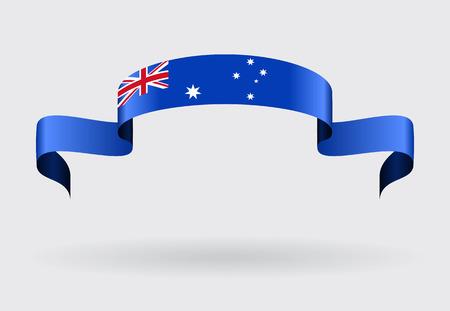 Australian flag wavy abstract background. Vector illustration. Vector Illustration