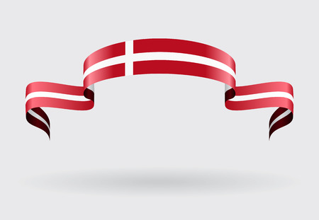 danish flag: Danish flag wavy abstract background. Vector illustration.