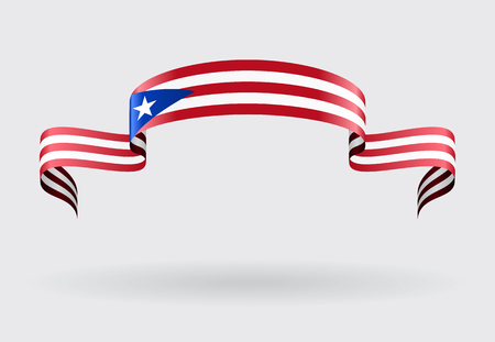 puerto rican flag: Puerto Rican flag wavy abstract background. Vector illustration. Illustration