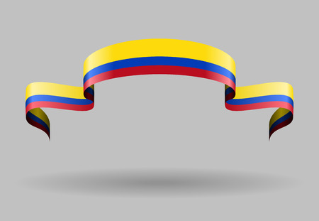 colombian flag: Colombian flag wavy abstract background. Vector illustration. Illustration