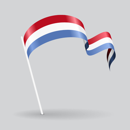 luxembourg: Luxembourg pin icon wavy flag. Vector illustration.