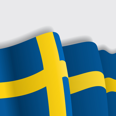 Swedish waving Flag. Vector illustration Eps 8 Illustration