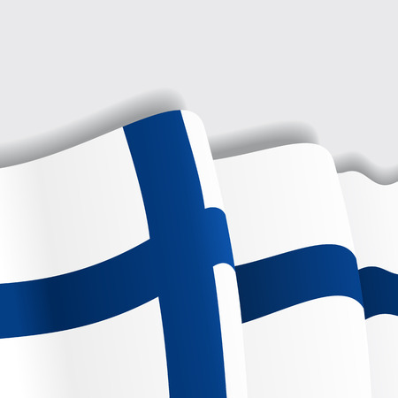 eps 8: Finnish waving Flag. Vector illustration Eps 8