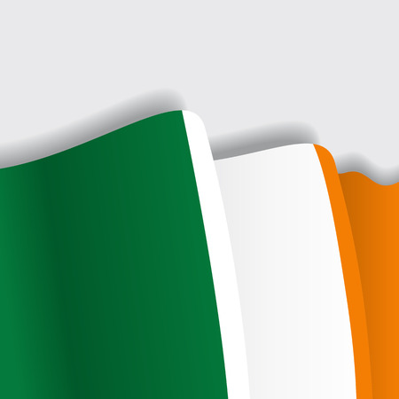 eps 8: Irish waving Flag. Vector illustration Eps 8