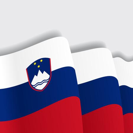 slovenian: Slovenian waving Flag. Vector illustration Eps 8