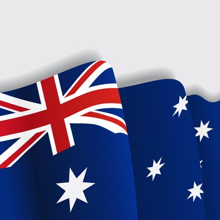 australian culture: Australian waving Flag. Vector illustration Eps 8