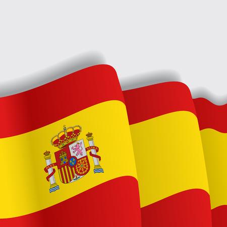 spanish flag: Spanish waving Flag. Vector illustration Eps 8 Illustration
