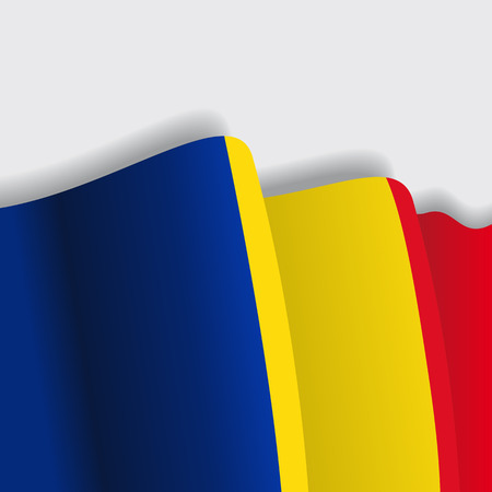 eps 8: Romanian waving Flag. Vector illustration Eps 8