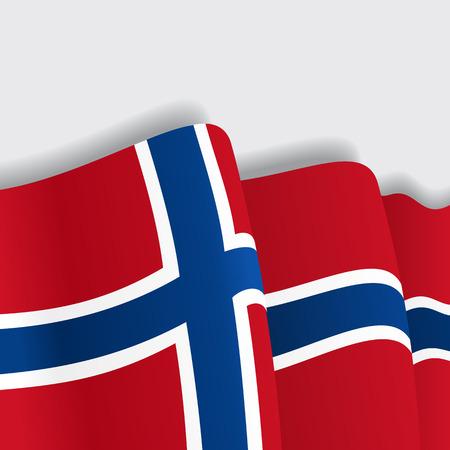 norwegian: Norwegian waving Flag. Vector illustration Eps 8