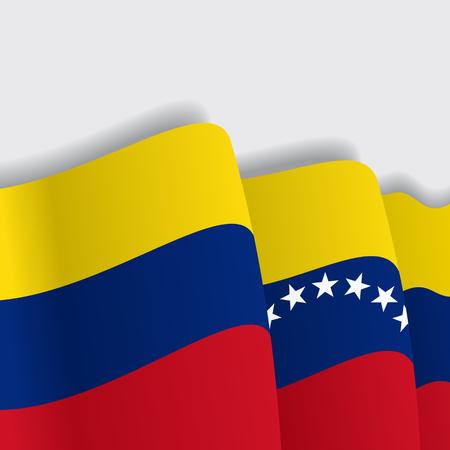 Venezuelan waving Flag. Vector illustration Eps 8 Illustration