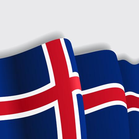 icelandic: Icelandic waving Flag. Vector illustration Eps 8