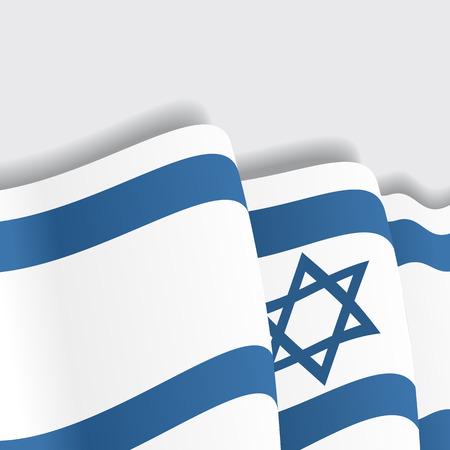 israeli: Israeli waving Flag. Vector illustration Eps 8