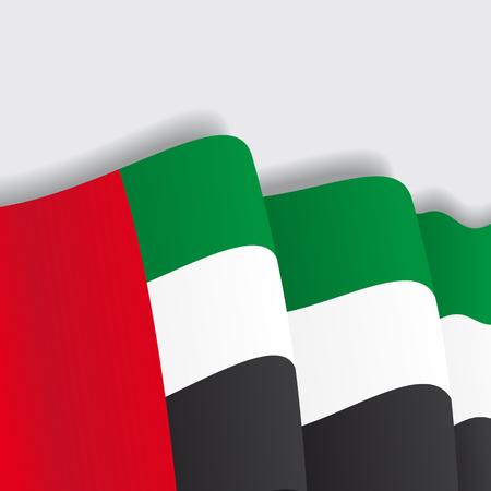 united arab emirate: United Arab Emirates waving Flag. Vector illustration Eps 8. Illustration