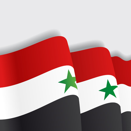 eps 8: Syrian waving Flag. Vector illustration Eps 8 Illustration