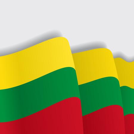 Lithuanian waving Flag. Vector illustration Eps 8