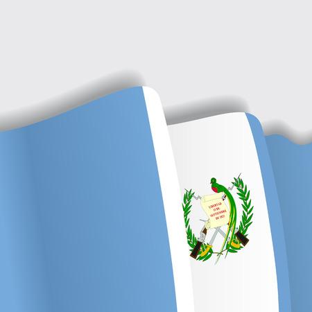guatemalan: Guatemalan waving Flag. Vector illustration Eps 8 Illustration