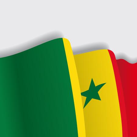 senegalese: Senegalese waving Flag. Vector illustration Eps 8