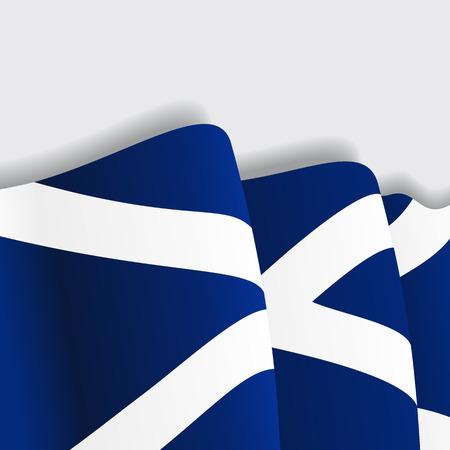 Bandera que agita de Escocia. Ilustración vectorial Eps 8
