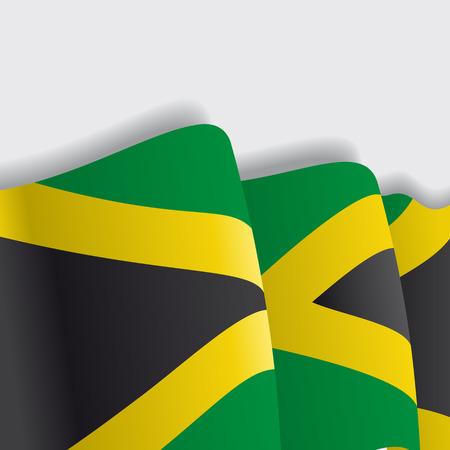 jamaican: Jamaican waving Flag. Vector illustration Eps 8 Illustration