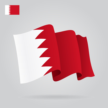 eps 8: Bahrain waving Flag. Vector illustration Eps 8 Illustration