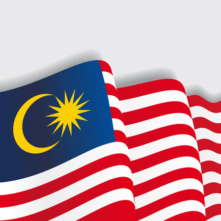 Malaysian waving Flag. Vector illustration Eps 8
