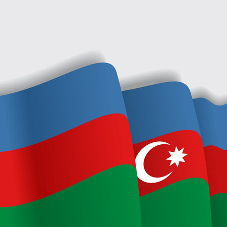eps 8: Azerbaijani waving Flag. Vector illustration Eps 8