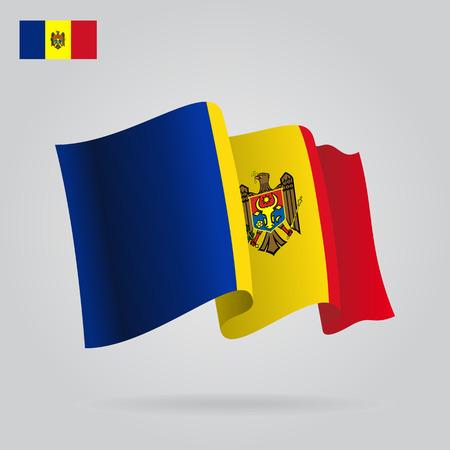 moldovan: Moldovan waving Flag. Vector illustration Eps 8