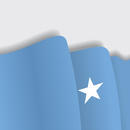 eps 8: Somalian waving Flag. Vector illustration Eps 8