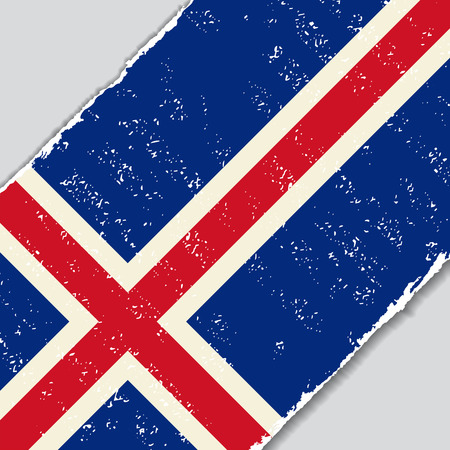 icelandic: Icelandic grunge flag diagonal background. Vector illustration.