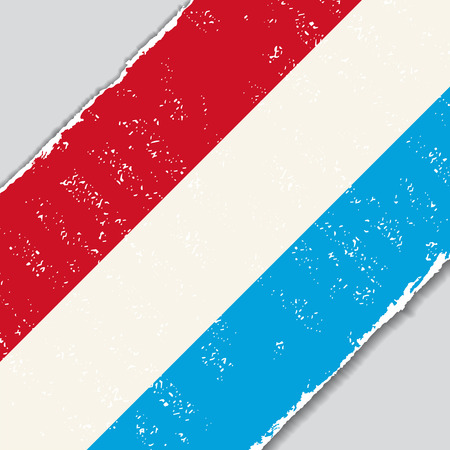 luxembourg: Luxembourg grunge flag diagonal background. Vector illustration.
