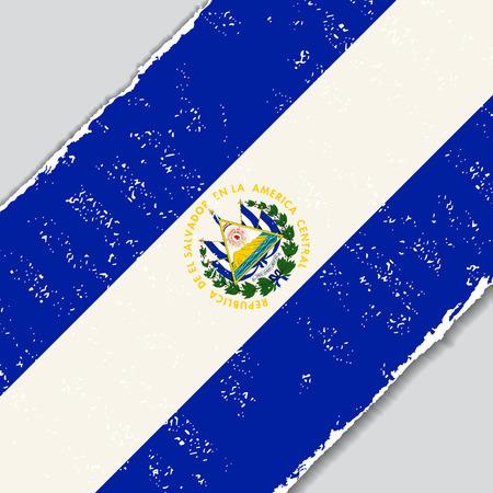 bandera de el salvador: El Salvador grunge flag diagonal background. Vector illustration.