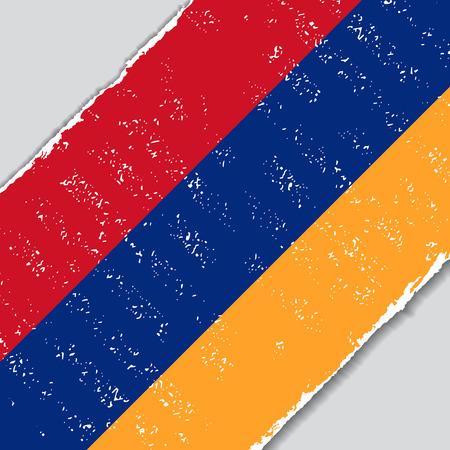 armenian: Armenian grunge flag diagonal background. Vector illustration. Illustration