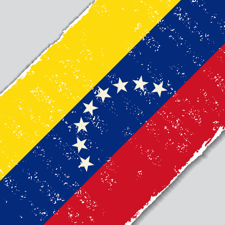 Venezuelan grunge flag diagonal background. Vector illustration.