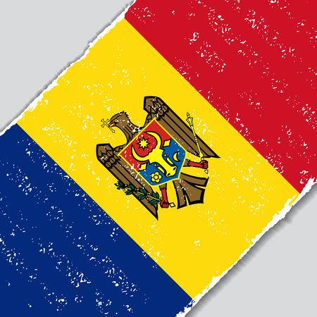 moldovan: Moldovan grunge flag diagonal background. Vector illustration.