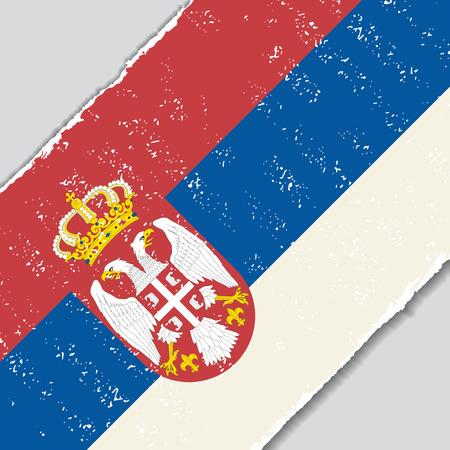 Serbian grunge flag diagonal background. Vector illustration. Illustration