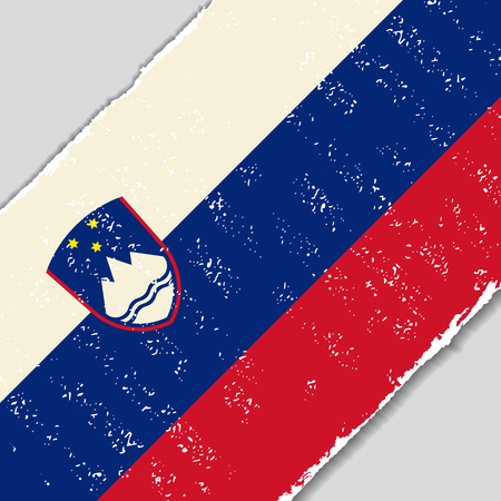 slovenian: Slovenian grunge flag diagonal background. Vector illustration.