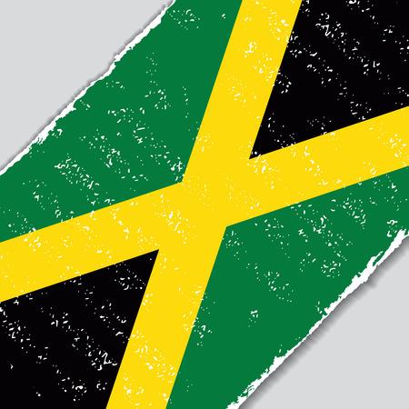 jamaican: Jamaican grunge flag diagonal background. Vector illustration.