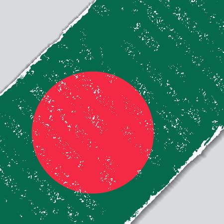 Bangladeshi grunge flag diagonal background. Vector illustration.