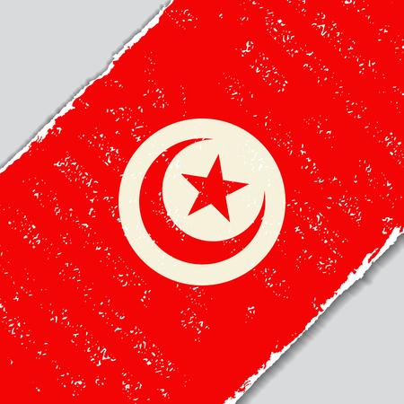 Tunisian grunge flag diagonal background. Vector illustration. Illustration